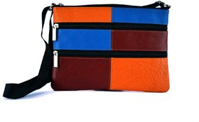 OX Ladies Big Sling Multi Colour Leather Bag