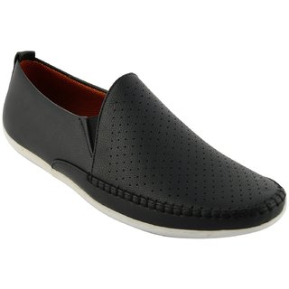welling mens black loafers