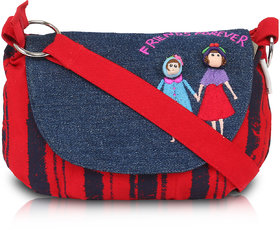 Pick Pocket Red Stripes Friends Sling Bag