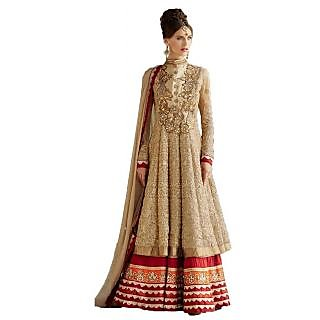 Shalini Embroidered Floor Touch Anarkali Suit Golden