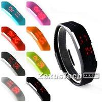 Fashion Children Kids Casual Running Sports Wrist Watch Rubber Band LED Digital Display Watch For Boy
