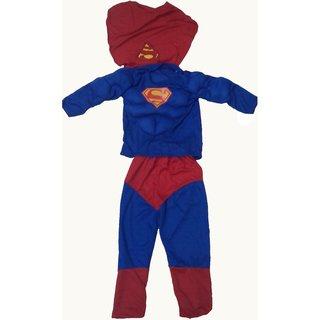 Superman Muscles Fancy Dress Costume For Kids