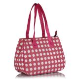 Earthen Me Polka Dots Fashion Jute Bag Pink
