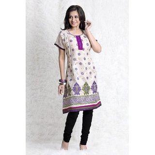 Triveni Multicolor Printed Cotton Stitched Kurti