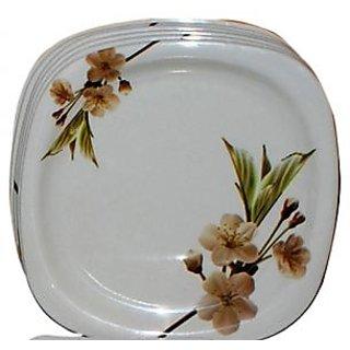 Set Of 6 Pcs Trendy White Melamine Half/ Quarter Dinner Plates - Design 10  sc 1 st  Shopclues & Set Of 6 Pcs Trendy White Melamine Half/ Quarter Dinner Plates ...