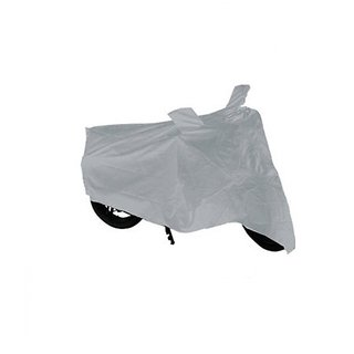 MP TVS Star City Plus Bike Body Cover Silver Colour With Mirror Pockets
