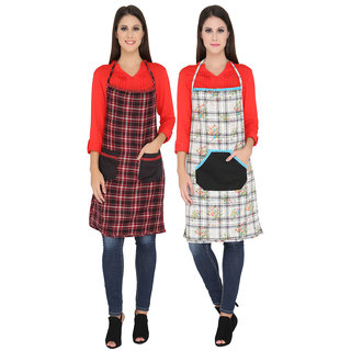 WomenS Cotton Kitchen Apron Pack Of 2 By Valentine