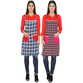 WomenS Cotton Kitchen Apron Pack Of 2
