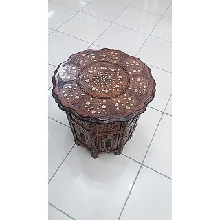 Wooden Side Octangle Table 18 inch