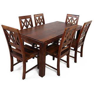Shop Sting Wooden Furniture Aria Solid Wood 6 Seater Dining Table Set Buy Shop Sting Wooden