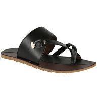 Shoe Bazar MenS Black Casual Slip On Sandals (sb-910-black)