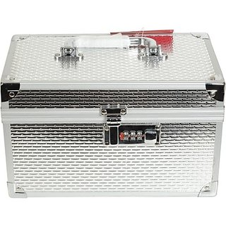 Phoenix International Silver Box Makeup Vanity Multi Purpose