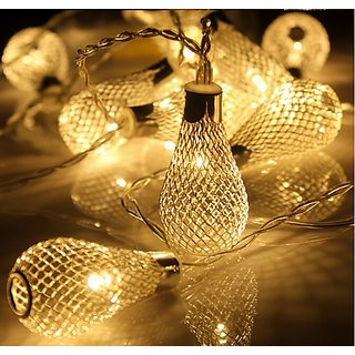 20led Battery Operation led string LED Metal Drip String Lights Patio Wedding Party Christmas lights Bedroom Holiday Dec