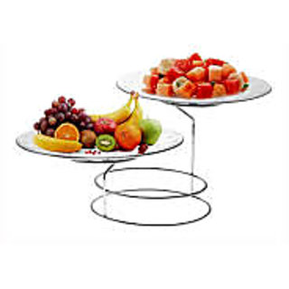 TrueWare 2 TIER Serving Platter