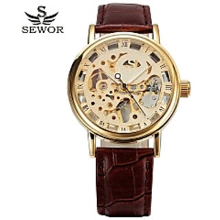 Skeleton Mens wrist watch