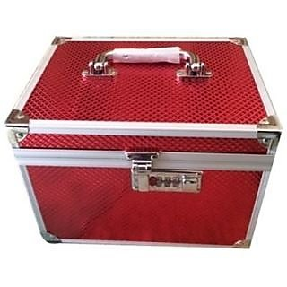 Phoenix International Red color Bridal vanity box jewellery box
