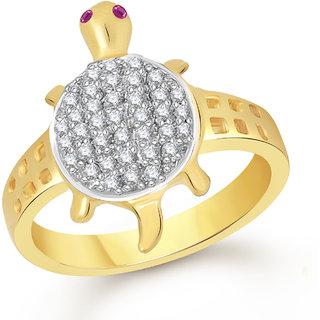 Tortoise Rings For Girls ,Women Gold Plated In American Diamond Cz Jewellery FR524
