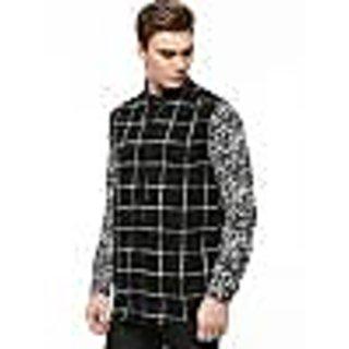 KOOVS Contrast Sleeve Shirt