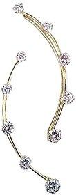 Ashiana Exclusive! Ethnic American Diamond Solitaire ear cuff d6 (pair)