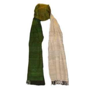 Mahimas Handblock New HandWeaving Organic Fabric Wool and Silk Stole for Women