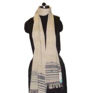 Mahimas Handblock New HandWeaving Organic Fabric Wool and Silk Natural Dye Stole for Women