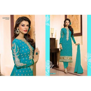 Buy Womens Sky Blue Colour Salwar Suit Dress Material Online Get 0