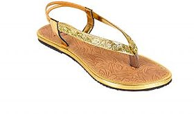 Berry Purple WomenS Gold Casual Open Toe Sandals (HMP955)