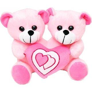 buy tabby toys cute teddy bear holding heart 22 cm pink online