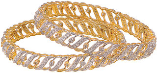 Paved Shimmer Bangle Set-S2.6
