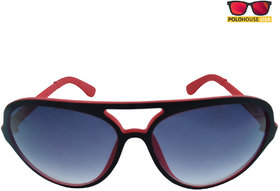 Polo House USA Mens Sunglasses ,Color-Black Red YancyMblred