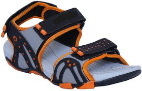 Signet India Men Sandal7171Blk-Gry-Orng (7171-blk-gry-orng)