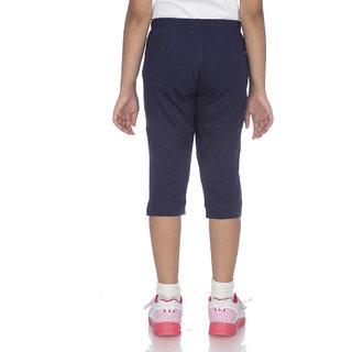 OCEAN RACE -Womens Stylish Navy Blue Cotton Capri-3/4 Th pant
