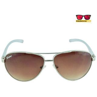 Polo House USA Mens Sunglasses ,Color-Silver Brown RoyAlu5002silbrown