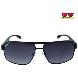 Polo House USA Mens Sunglasses ,Color-BlackGrey RoyAlu5009Blgrey