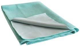 Dream Care Ninnu  Water Proof Medium Size 70x100cm Green Baby Sheet
