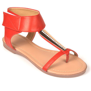 L.G. Footwear Women Red Styles Bellies (9007-21-Red)