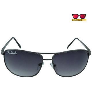 Polo House USA Mens Sunglasses ,Color-Black Grey RicaLew1074gungrey