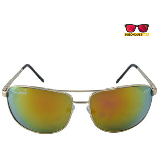 Polo House USA Mens Sunglasses ,Color-Silver Gold Mercury RicaLew1074silgoldmer