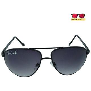 Polo House USA Mens Sunglasses ,Color-Black Grey RicaLew1075Mblackgrey