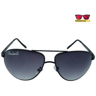 Polo House USA Mens Sunglasses ,Color-Black Grey RicaLew1075blgrey
