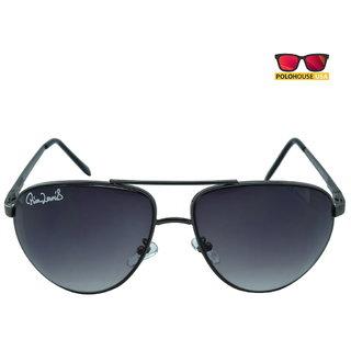 Polo House USA Mens Sunglasses ,Color-Black Grey RicaLew1075gungrey