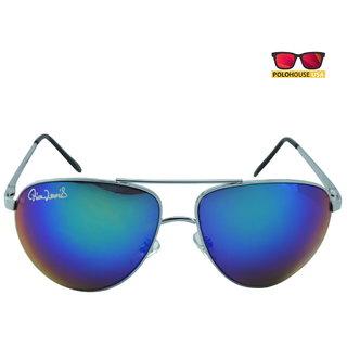 Polo House USA Mens Sunglasses ,Color-Silver Blue Mercury RicaLew1075silbluemer