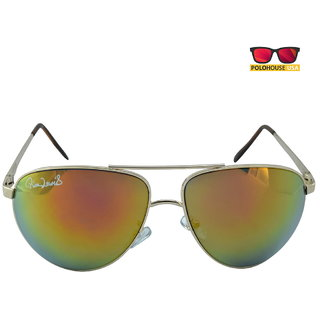 Polo House USA Mens Sunglasses ,Color-Silver Gold Mercury RicaLew1075silgoldmer