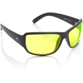 b6b1b0d191cd Buy Fastrack Guys Uv Protected Yellow Sporty Wrap Sunglasses P294YL3 ...