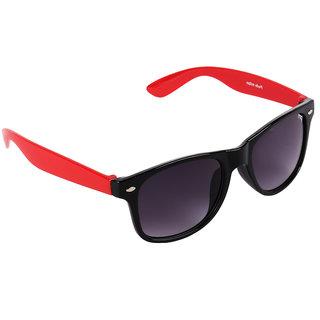 Pede Milan Maroon Rectangular Sunglass-PM-232-StylishWayfarer-BlackRedMaroon