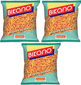 Bikano Aloo Lachcha Namkeen 450 gm (Pack of 3)