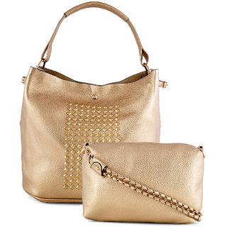 Stoln-Women Gold Hand Bag-705Gold
