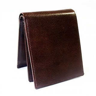 Bi-Fold Men's Leather Wallet (Brown)