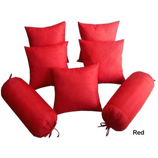 DESIGNER COMBO CUSHION COVERS AND BOLSTER COVER SET OF 7 PCS