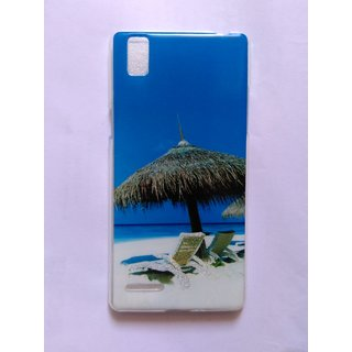 Back Case Cover Back Cover For Oppo F1 - shining blue transparent